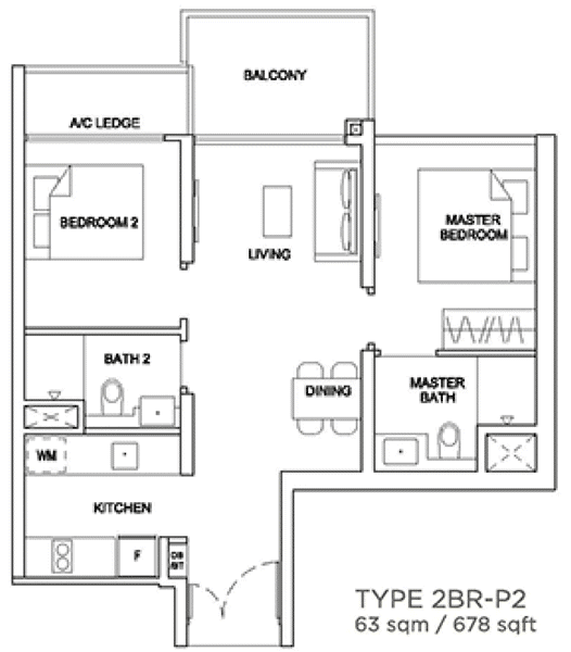 Stirling Residences Showflat Unit 2BR Premium