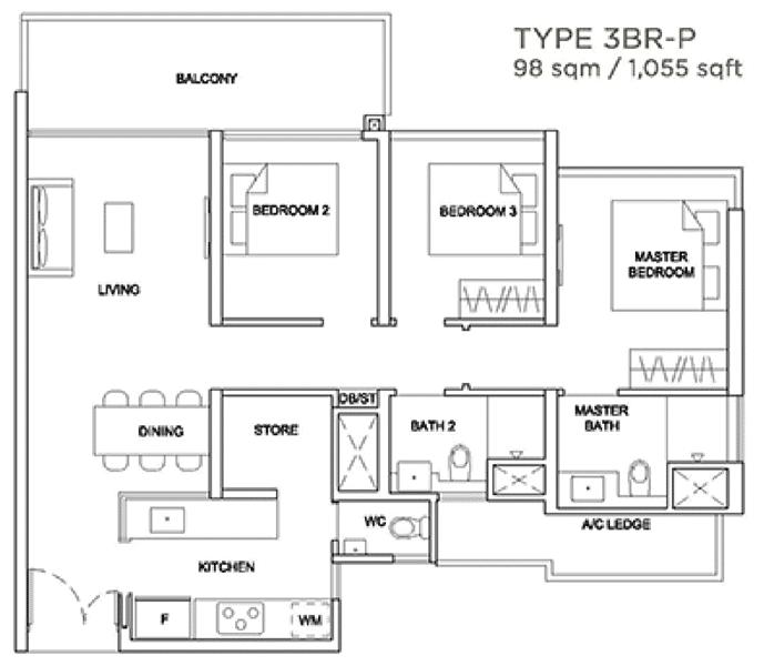 Stirling Residences Showflat Unit 3BR Premium