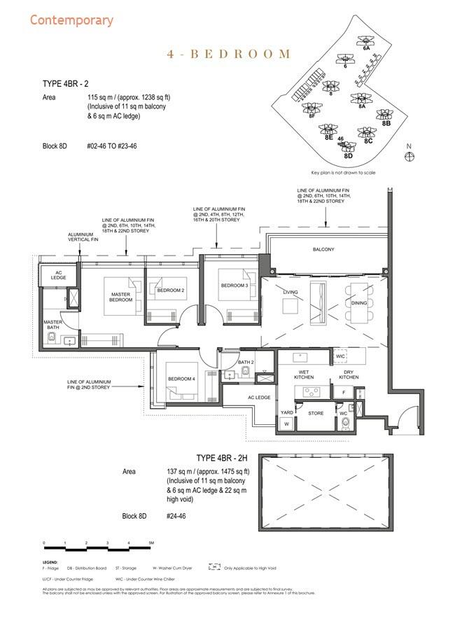 Parc Clematis Condo Floor Plan 4 Bedroom (Contemporary) - 4BR-2