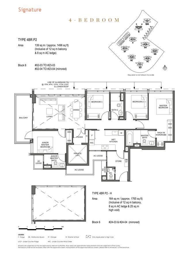 Parc Clematis Condo Floor Plan 4 Bedroom Premium (Signature) - 4BR P-2