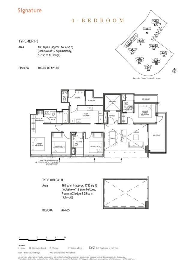 Parc Clematis Condo Floor Plan 4 Bedroom Premium (Signature) - 4BR P-3