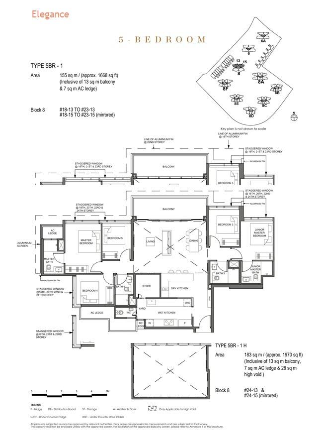 Parc Clematis Condo Floor Plan 5 Bedroom (Elegance) - 5BR-1