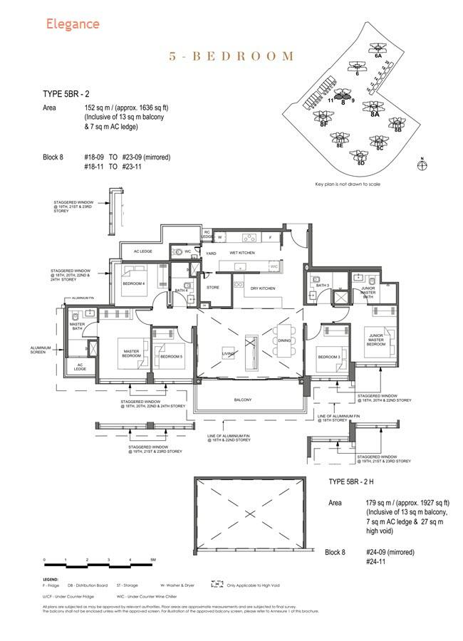 Parc Clematis Condo Floor Plan 5 Bedroom (Elegance) - 5BR-2