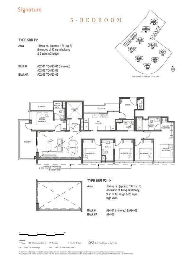 Parc Clematis Condo Floor Plan 5 Bedroom Premium (Signature) - 5BR P-2
