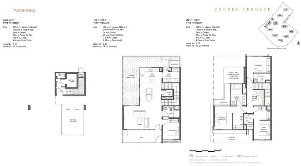 Parc Clematis Condo Floor Plan Landed (Masterpiece) Corner Terrace