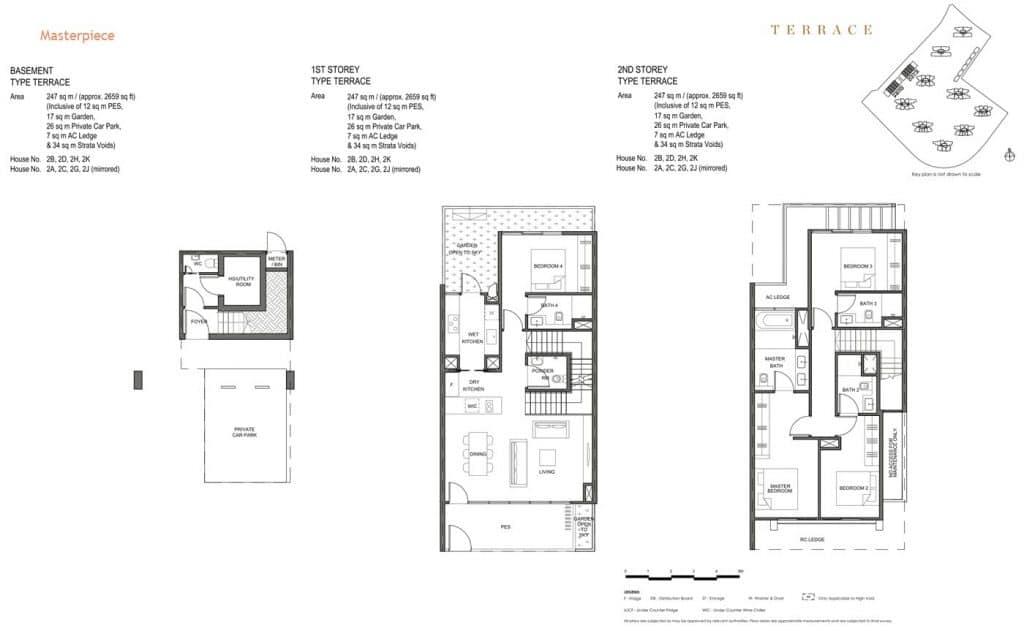Parc Clematis Condo Floor Plan Landed (Masterpiece) Terrace