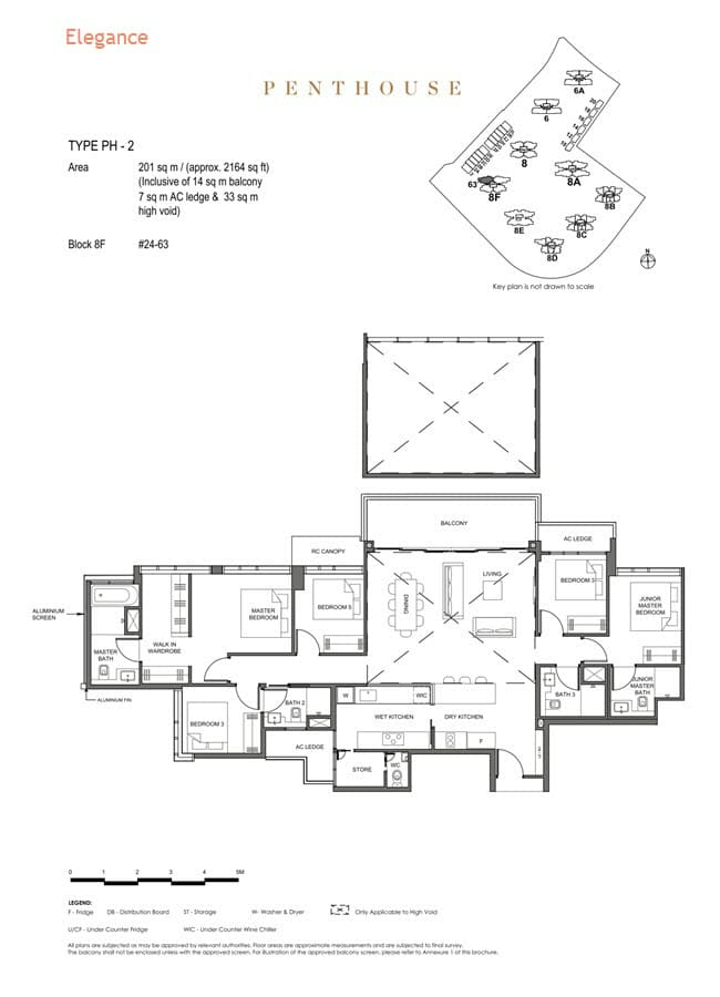 Parc Clematis Condo Floor Plan Penthouse (Elegance) - PH-2