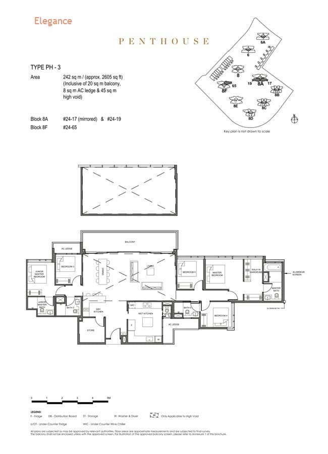 Parc Clematis Condo Floor Plan Penthouse (Elegance) - PH-3