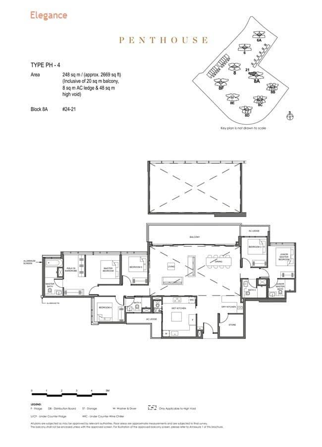 Parc Clematis Condo Floor Plan Penthouse (Elegance) - PH-4