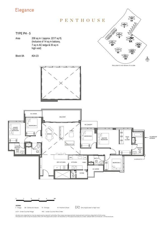 Parc Clematis Condo Floor Plan Penthouse (Elegance) - PH-5