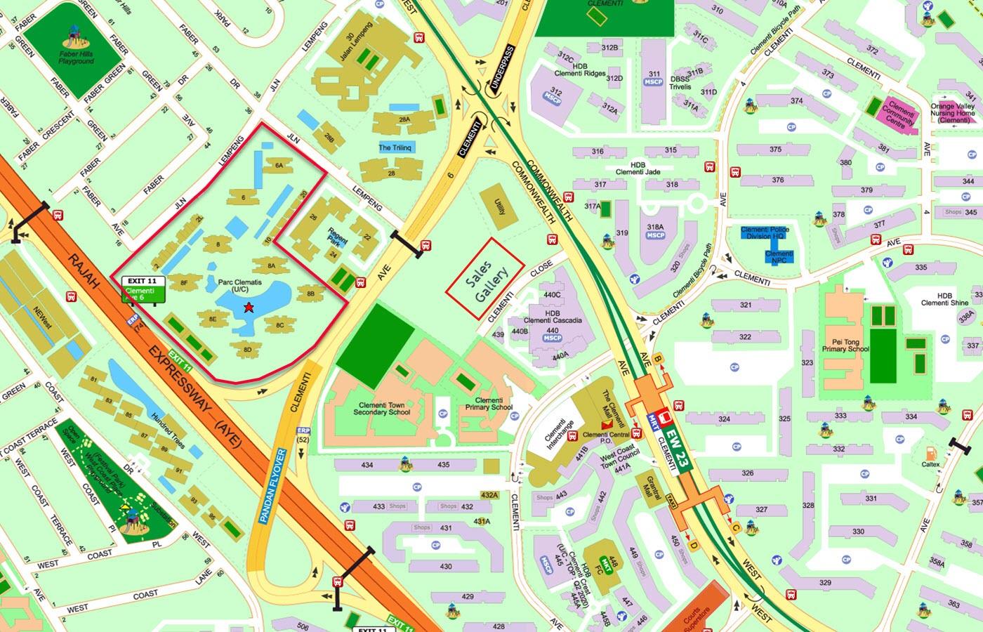 Parc Clematis Condo Showflat Sales Gallery Location