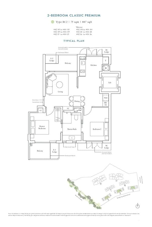 Avenue-South-Residence-Condo-Floor-Plan-Heritage-Collection-2-Bedroom-Classic-Premium-BC2