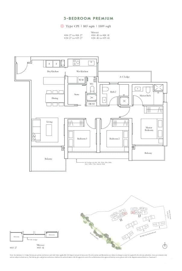 Avenue-South-Residence-Condo-Floor-Plan-Horizon-Collection-3-Bedroom-Premium-CP1