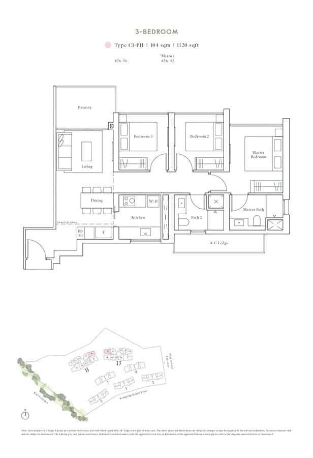Avenue-South-Residence-Condo-Floor-Plan-Peak-Collection-3-Bedroom-C1-PH