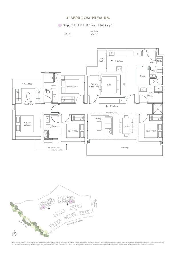 Avenue-South-Residence-Condo-Floor-Plan-Peak-Collection-4-Bedroom-Premium-DP1-PH