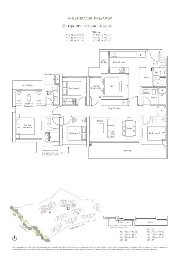 Avenue-South-Residence-Condo-Floor-Plan-Peak-Collection-4-Bedroom-Premium-DP1