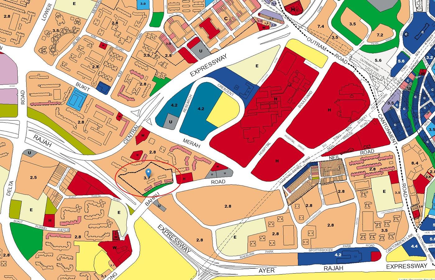 Avenue-South-Residence-Condo-URA-Master-Plan-Map