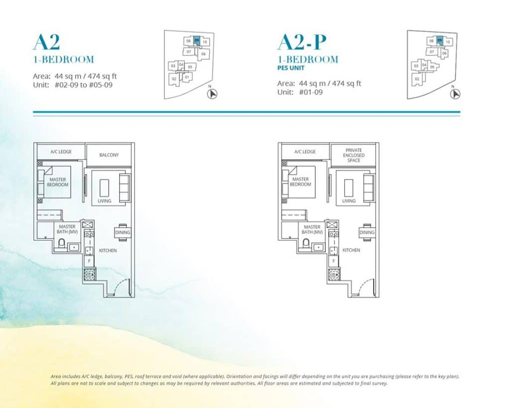 Casa-Al-Mare-Condo-Floor-Plan-1-Bedroom-A2-A2P