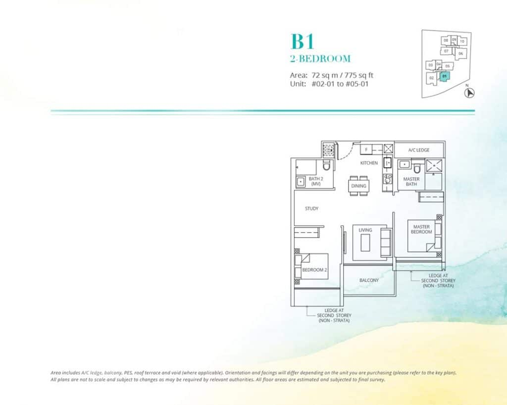 Casa-Al-Mare-Condo-Floor-Plan-2-Bedroom-B1