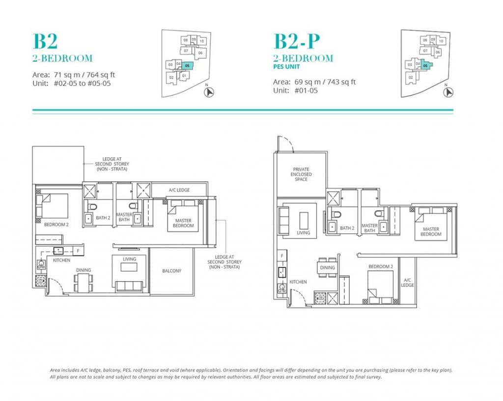 Casa-Al-Mare-Condo-Floor-Plan-2-Bedroom-B2-B2P