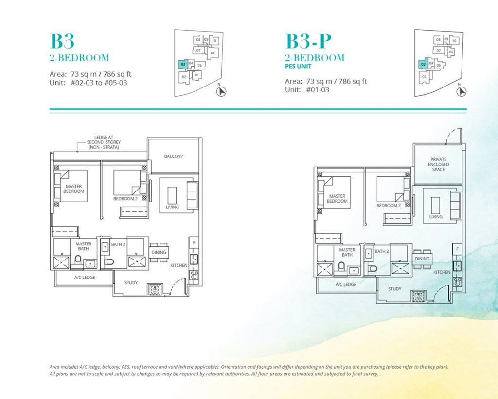 Casa-Al-Mare-Condo-Floor-Plan-2-Bedroom-B3-B3P