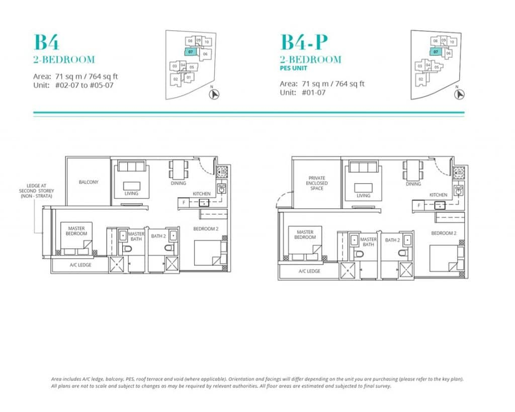Casa-Al-Mare-Condo-Floor-Plan-2-Bedroom-B4-B4P
