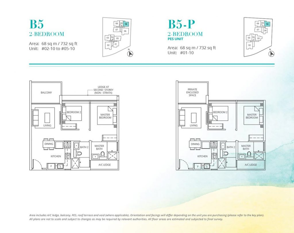 Casa-Al-Mare-Condo-Floor-Plan-2-Bedroom-B5-B5P