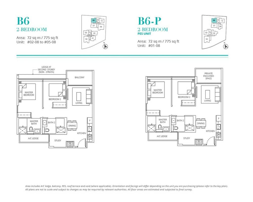 Casa-Al-Mare-Condo-Floor-Plan-2-Bedroom-B6-B6P