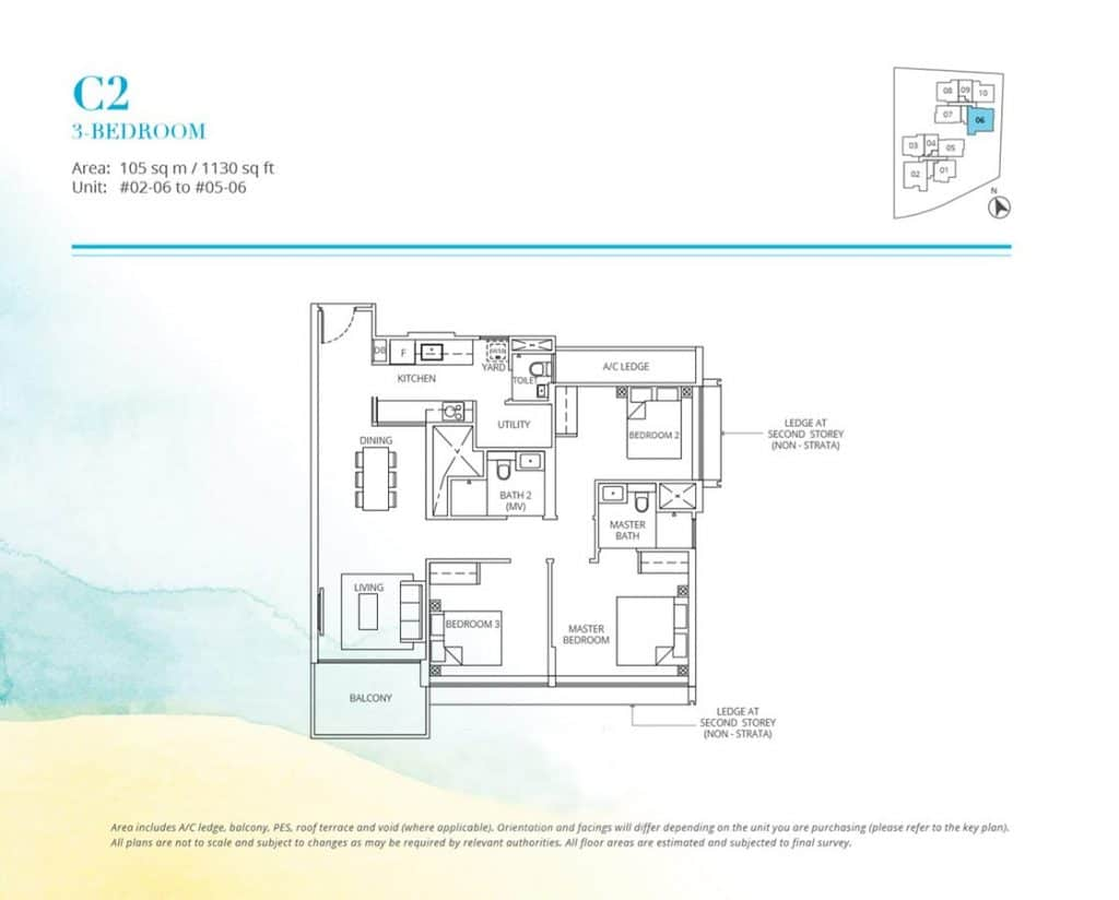 Casa-Al-Mare-Condo-Floor-Plan-3-Bedroom-C2