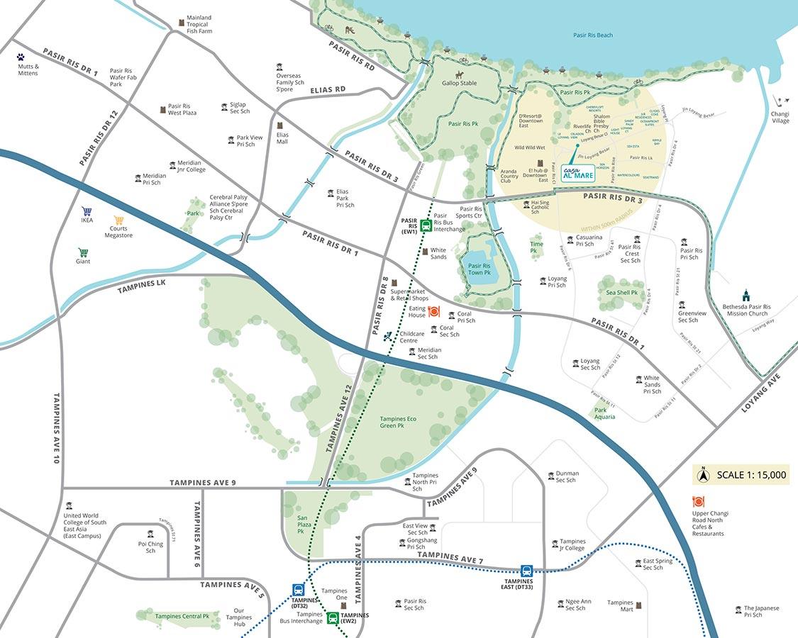 Casa-Al-Mare-Condo-Location-Map