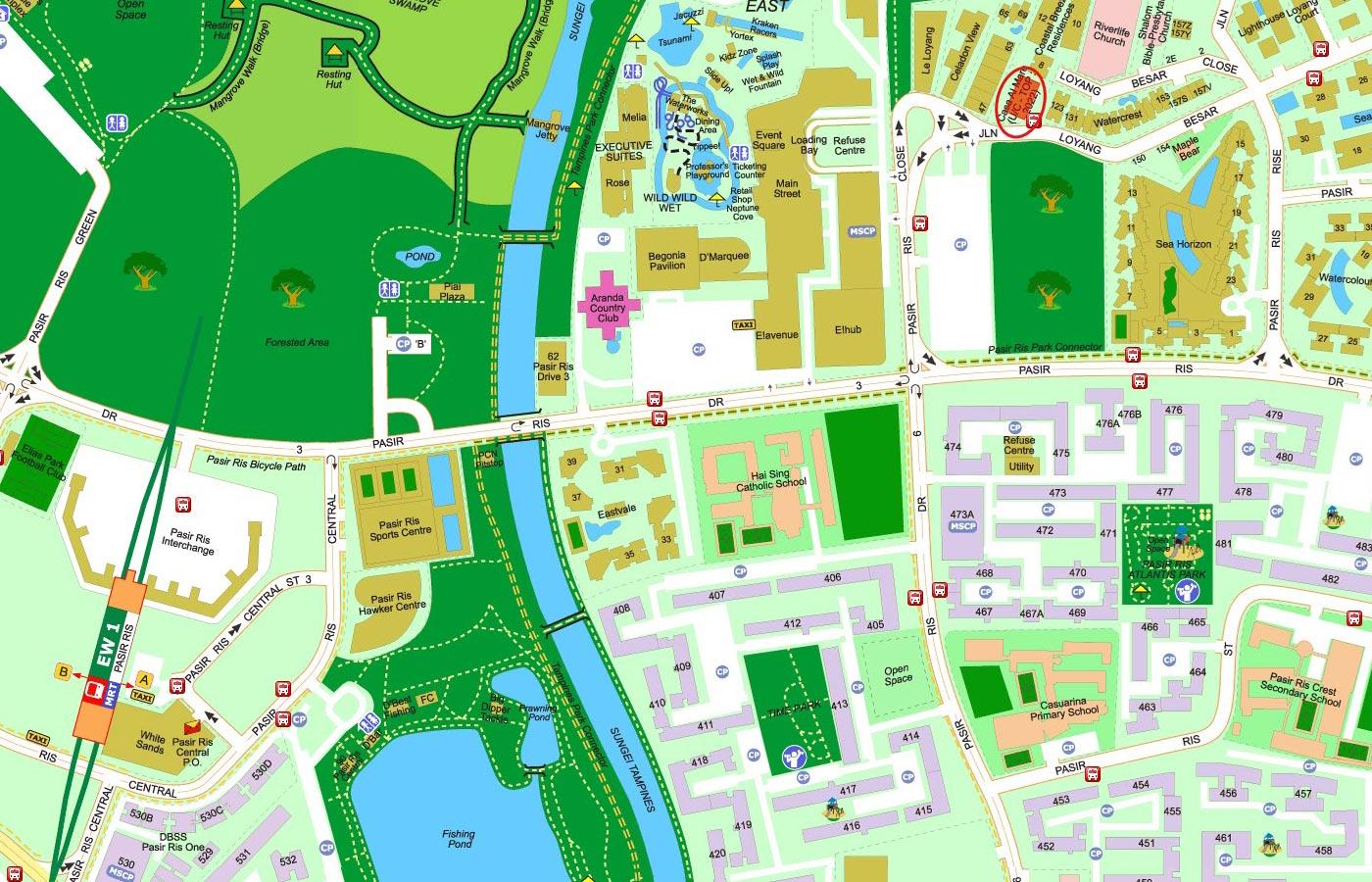 Casa-Al-Mare-Condo-Street-Directory-Map