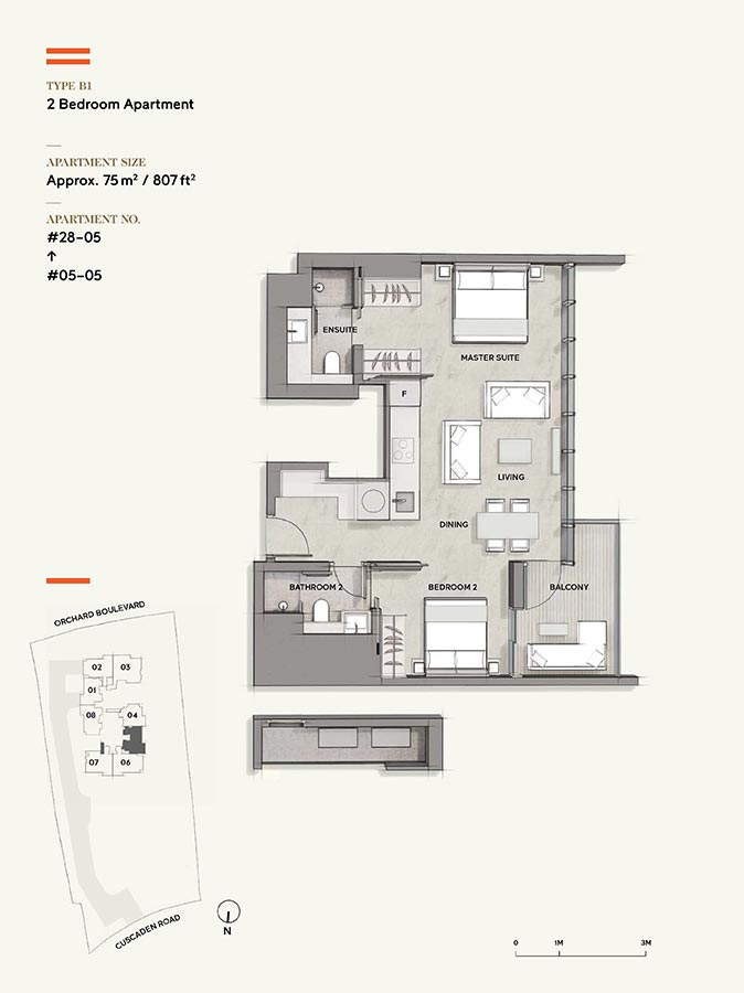 Cuscaden-Reserve-Condo-Floor-Plan-2-Bedroom-B1