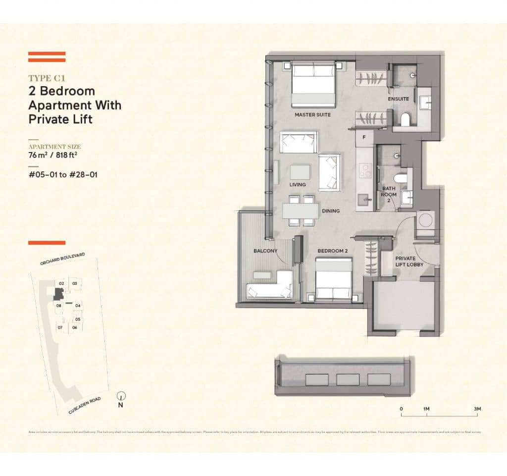 Cuscaden-Reserve-Condo-Floor-Plan-2-Bedroom-Private-Lift-C1