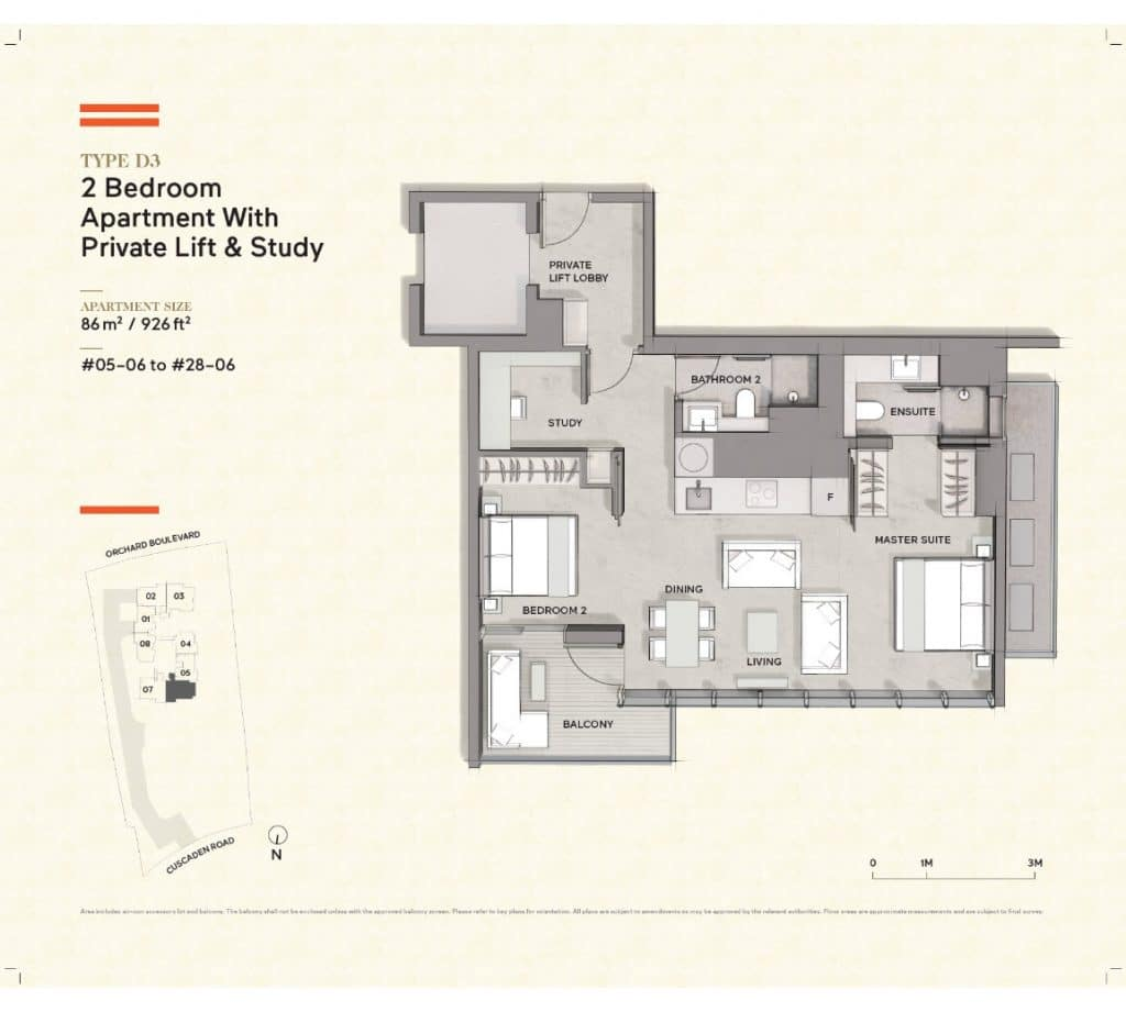 Cuscaden-Reserve-Condo-Floor-Plan-2-Bedroom-Private-Lift-Study-D3