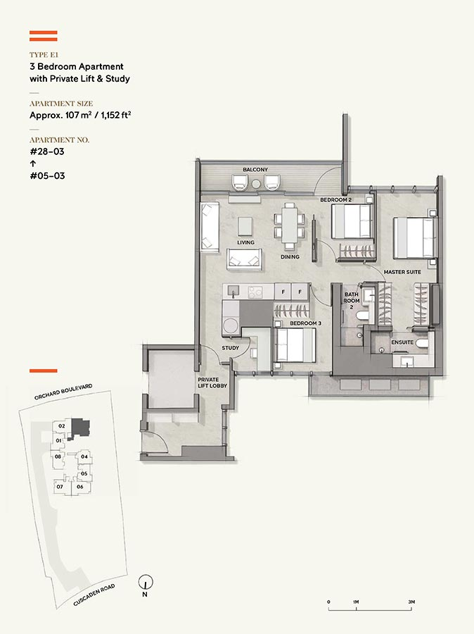 Cuscaden-Reserve-Condo-Floor-Plan-3-Bedroom-Private-Lift-Study-E1