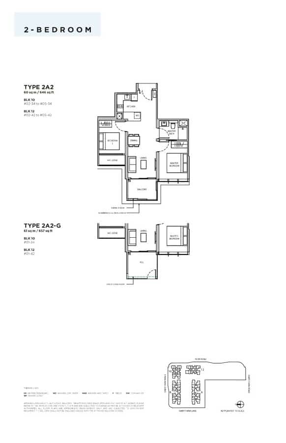 Dairy Farm Residences Condo Floor Plan 2 Bedroom 2A2