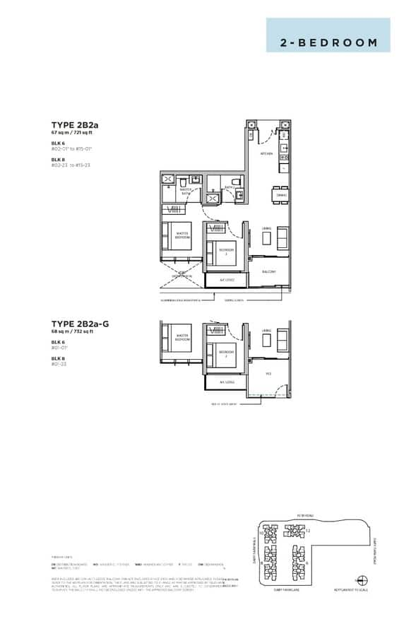 Dairy Farm Residences Condo Floor Plan 2 Bedroom 2B2a
