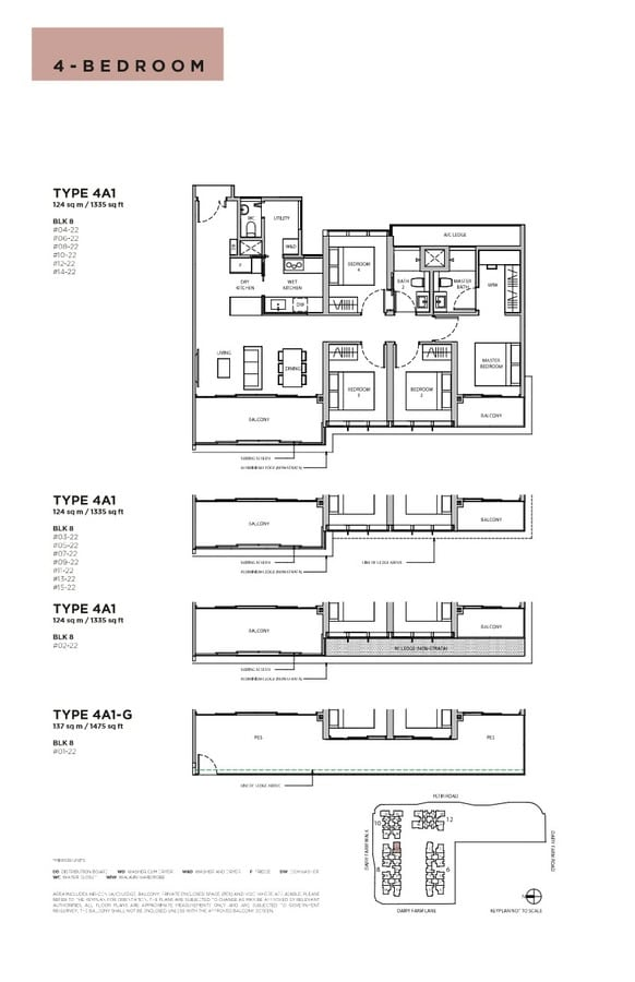 Dairy Farm Residences Condo Floor Plan 4 Bedroom 4A1