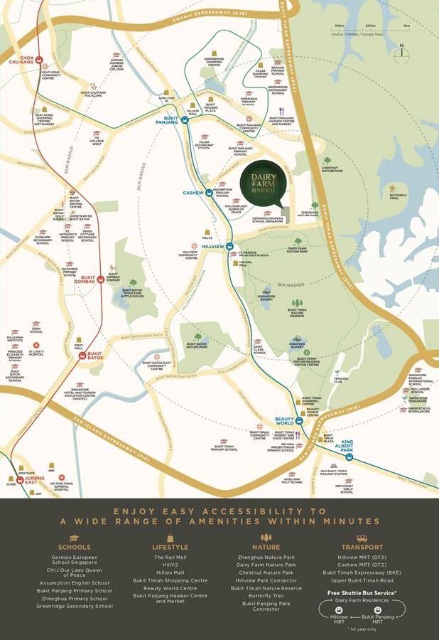 Dairy Farm Residences Condo Location Map 2