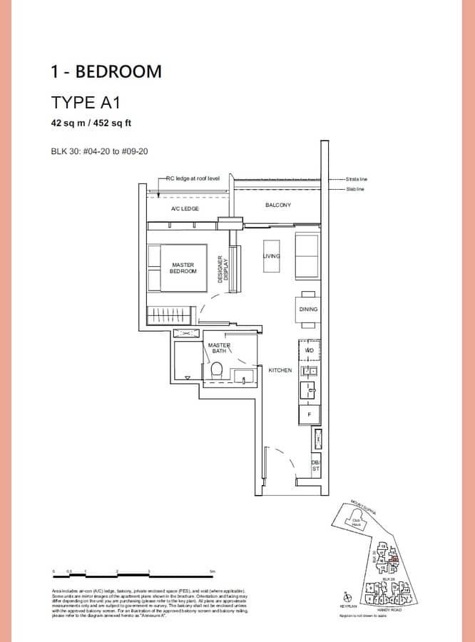 Haus On Handy Condo Floor Plan 1 Bedroom A1
