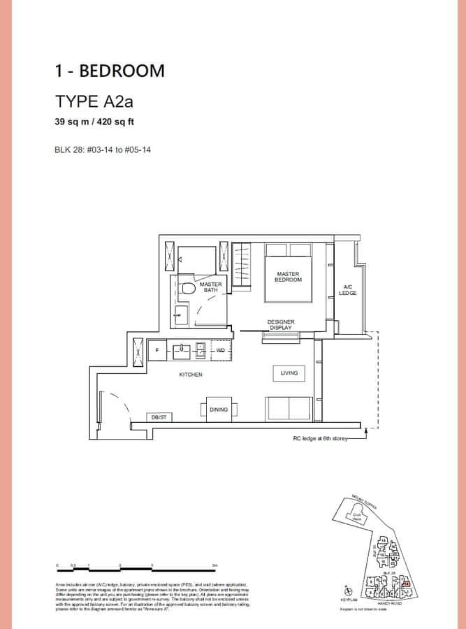Haus On Handy Condo Floor Plan 1 Bedroom A2a