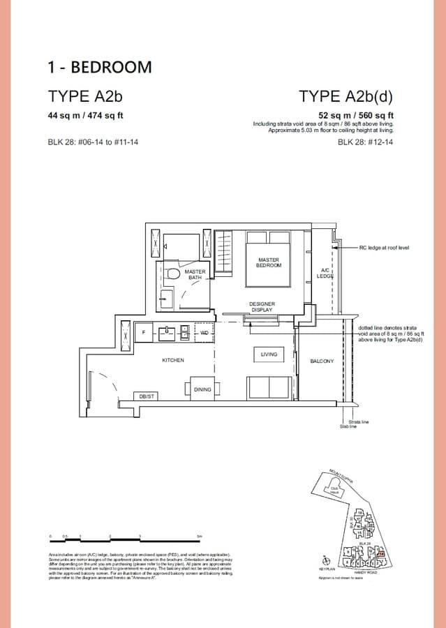 Haus On Handy Condo Floor Plan 1 Bedroom A2b A2bd