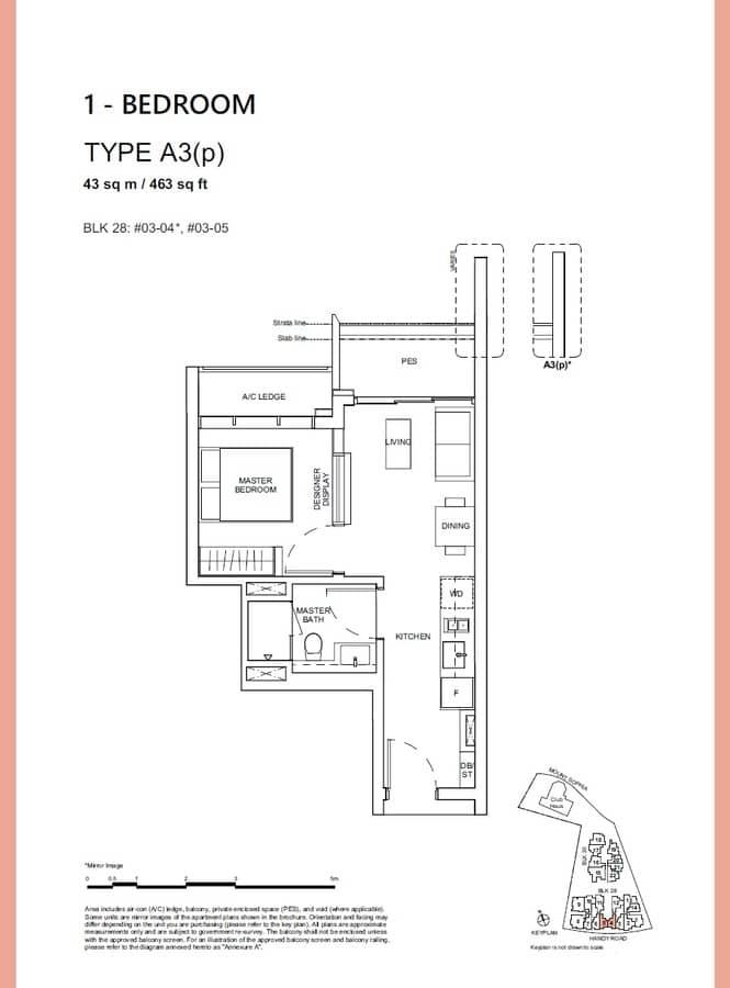 Haus On Handy Condo Floor Plan 1 Bedroom A3p