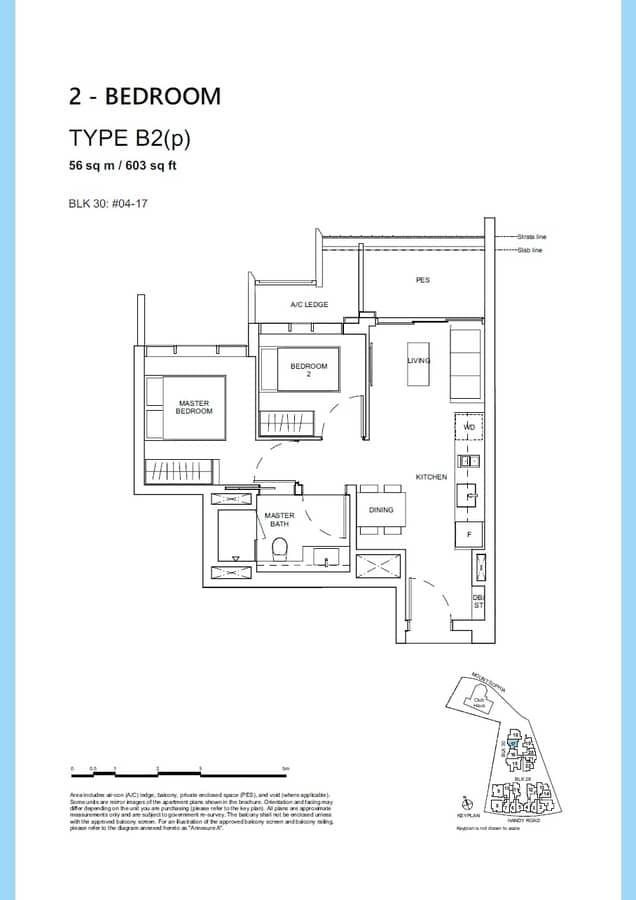Haus On Handy Condo Floor Plan 2 Bedroom B2p