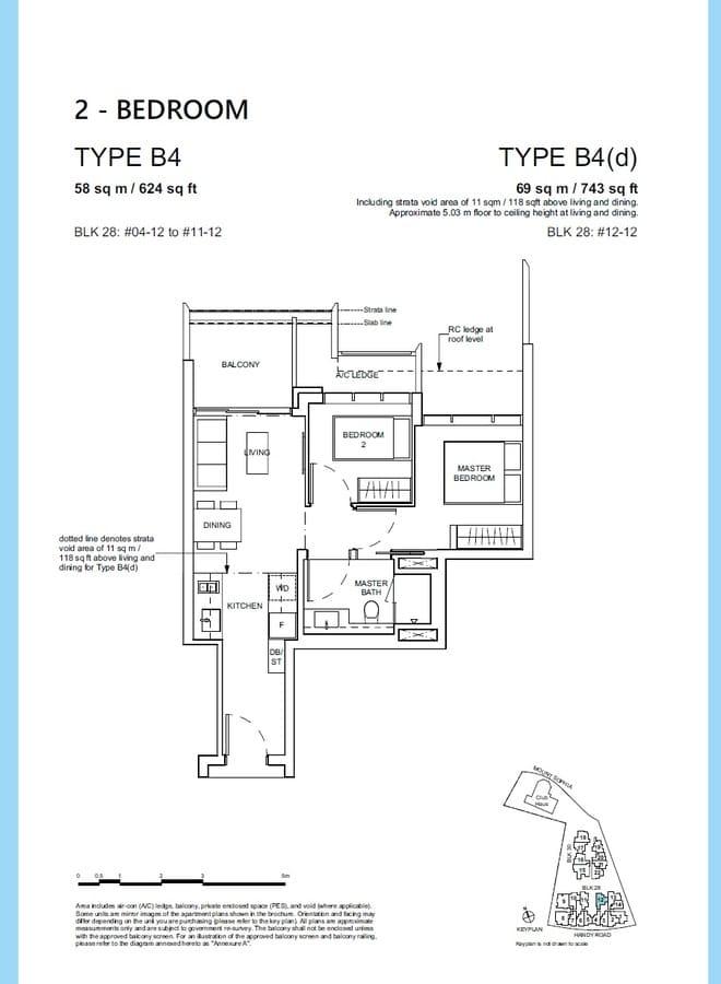 Haus On Handy Condo Floor Plan 2 Bedroom B4 B4d