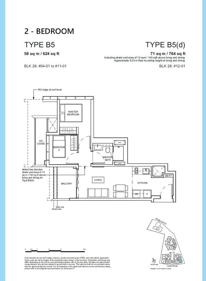Haus On Handy Condo Floor Plan 2 Bedroom B5 B5d
