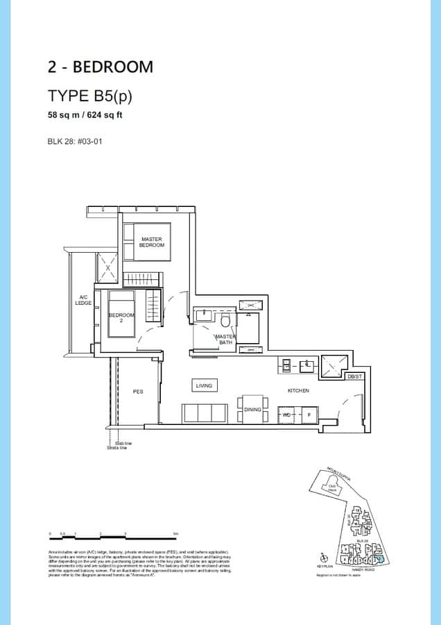 Haus On Handy Condo Floor Plan 2 Bedroom B5p