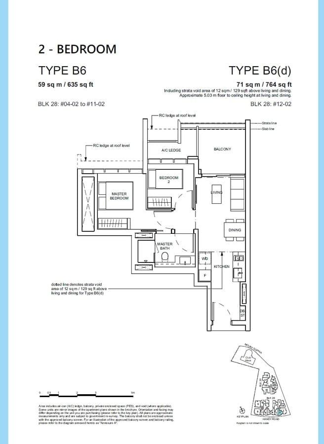 Haus On Handy Condo Floor Plan 2 Bedroom B6 B6d