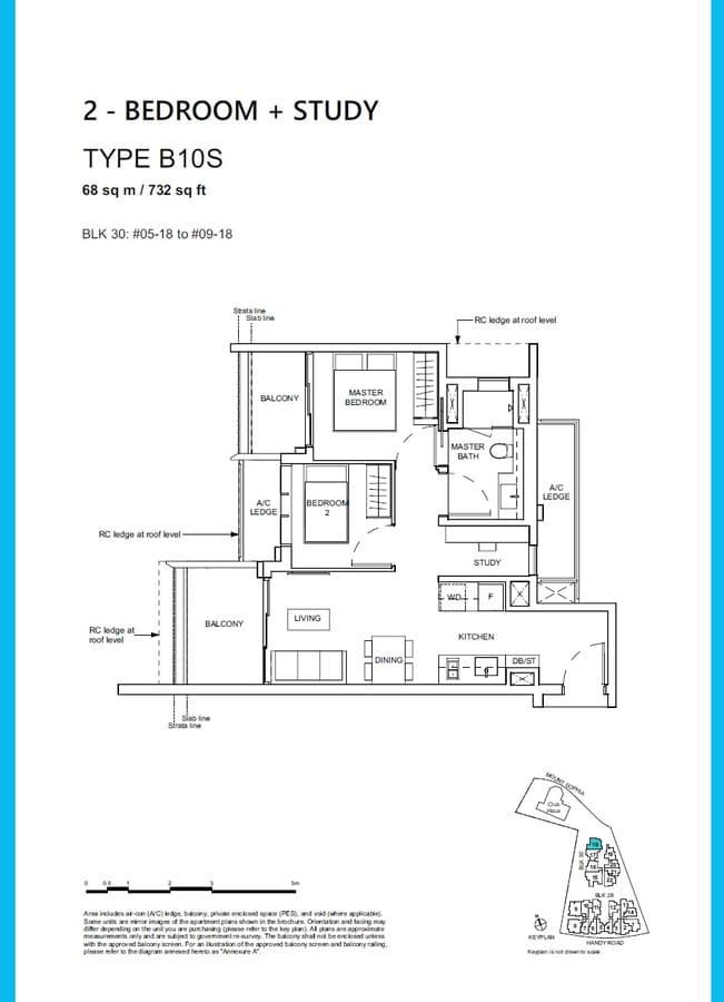 Haus On Handy Condo Floor Plan 2 Bedroom Study B10S