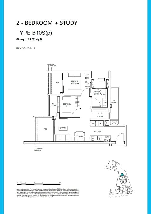 Haus On Handy Condo Floor Plan 2 Bedroom Study B10Sp